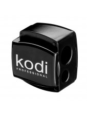 Точилка для косметических карандашей (черная глянцевая, с двумя лезвиями), Kodi