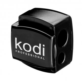 фото - Точилка для косметических карандашей (черная глянцевая, с двумя лезвиями), Kodi
