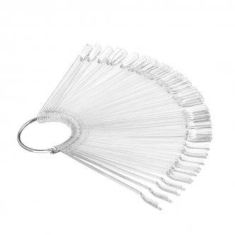 фото - Демонстрационная палитра-веер на кольце, 50 типс (цвет прозрачный), Kodi