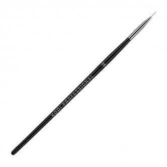 фото - Кисть для росписи в тубусе №00 (нейлон, деревянная черная ручка), Kodi