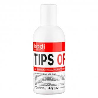 фото - Tips Off (Жидкость для снятия гель лака/акрила) 250 мл., Kodi