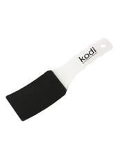 Пилка для педикюра изогнутая (пластиковая белая ручка) 100/180, Kodi