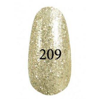 Гель лак № 209 (Золотой с серебряным блеском) 8 мл.
