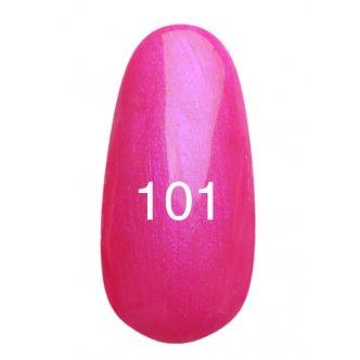 Гель лак № 101 (ярко розовый с перламутром) 8 мл.