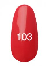 Гель лак № 103 (красно-коралловый) 8 мл., Kodi