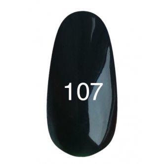 Гель лак № 107 (черно-зеленый) 8 мл., Kodi