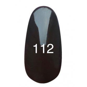 Гель лак № 112 (темно-коричневый, эмаль) 8 мл.