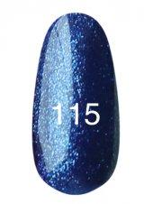 Гель лак № 115 (синий с плотным блеском) 8 мл., Kodi
