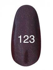 Гель лак № 123 (темный баклажан с перламутром) 8 мл., Kodi