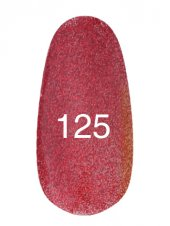 Гель лак № 125 (красный с блестками) 8 мл., Kodi