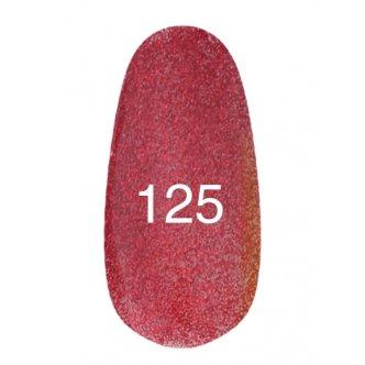 Гель лак № 125 (красный с блестками) 8 мл.