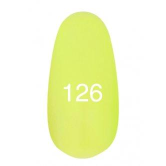Гель лак № 126 (неоновый желтый) 8 мл.