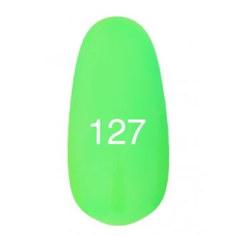 Гель лак № 127 (неоновый зеленый) 8 мл., Kodi