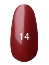 Гель лак № 14 (классическое бордо с перламутром) 8 мл., Kodi