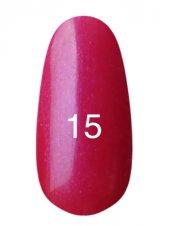 Гель лак № 15 (классический малиновый с микроблеском) 8 мл., Kodi