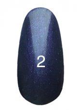 Гель лак № 2 (темно фиолетовый с перламутром) 8 мл., Kodi