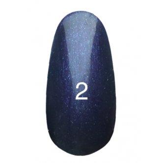 Гель лак № 2 (темно фиолетовый с перламутром) 8 мл.