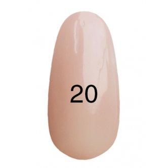 Гель лак № 20 (молочно-розовый ) 8 мл., Kodi