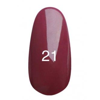 Гель лак № 21 (глубокий бордо с микроблеском) 8 мл.