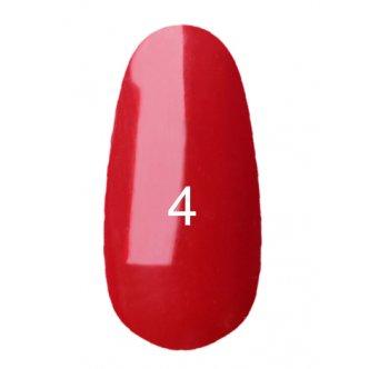 Гель лак № 4 (классический красный, эмаль) 8 мл.