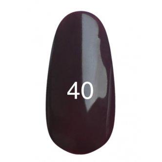 Гель лак № 40 (баклажановый, эмаль) 8 мл.