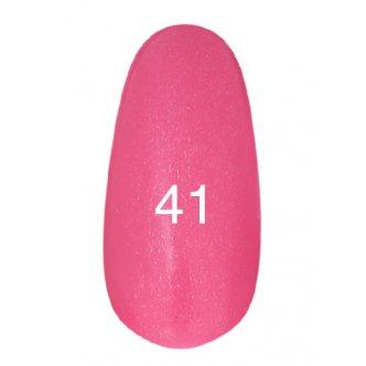 Гель лак № 41 (классический розовый, с перламутром) 8 мл.