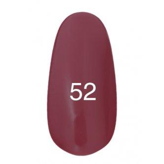 Гель лак № 52 (глубокий карминовый, эмаль) 8 мл.