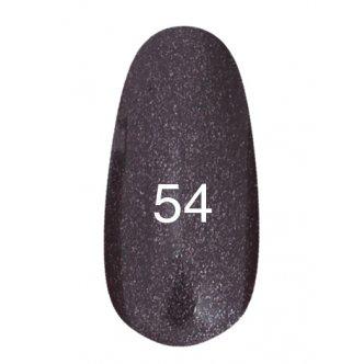 Гель лак № 54 (черный с перламутром) 8 мл.