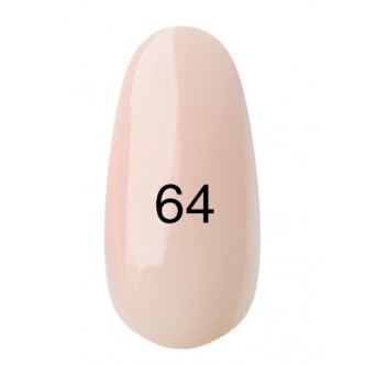 Гель лак № 64 (полупрозрачный, персиковый, эмаль) 8 мл.