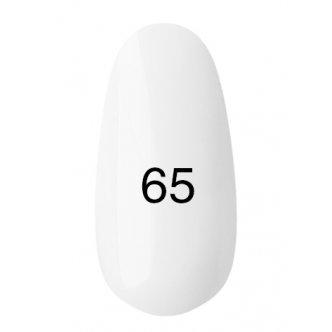 Гель лак № 65 (полупрозрачный, белесый, эмаль) 8 мл.