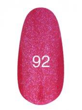Гель лак № 92 (розовый с мерцанием) 8 мл., Kodi