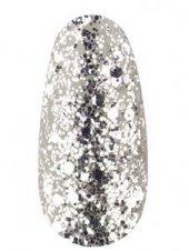 Гель лак № 40 SH (Белое серебро, брокат и глиттер), 12мл, Kodi