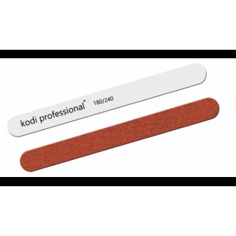 фото - Пилка для ногтей Прямая White/Brown 180/240, Kodi