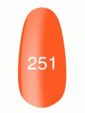 Гель лак № 251 (неоновый оранжевый) 8 мл., Kodi