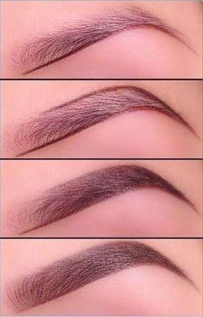 Как нарисовать красивые брови карандашом пошагово