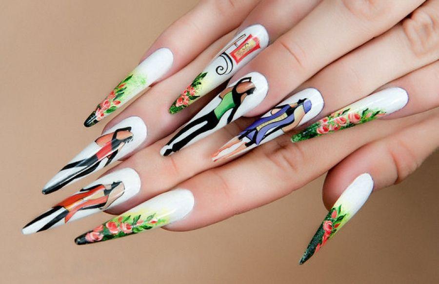Художественная роспись ногтей в современном стие