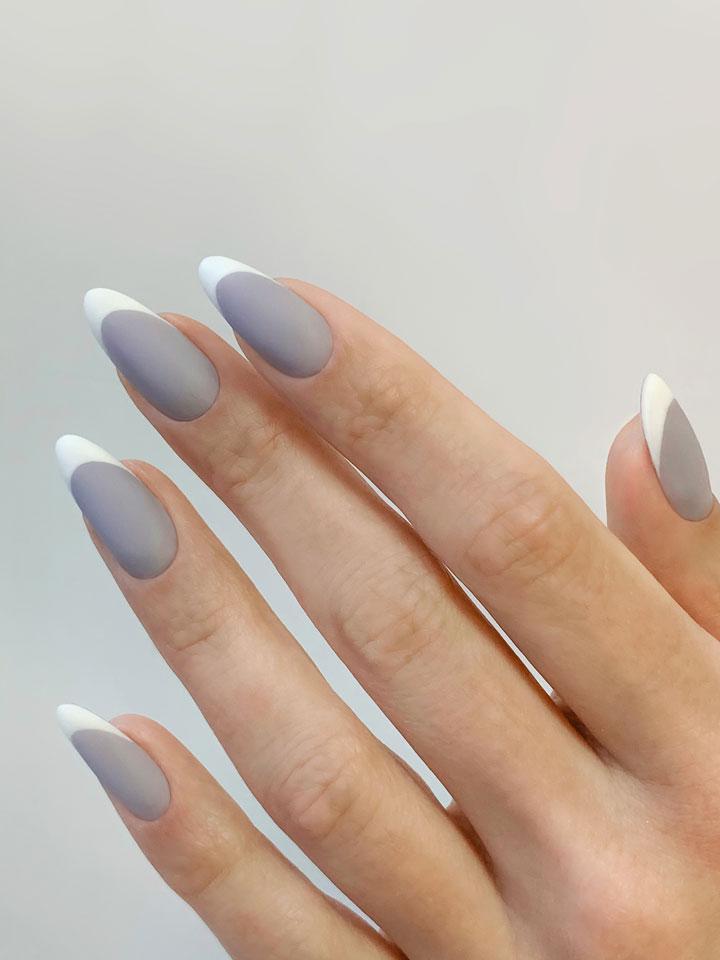 Варианты дизайна ногтей с матовым топом для гель-лака