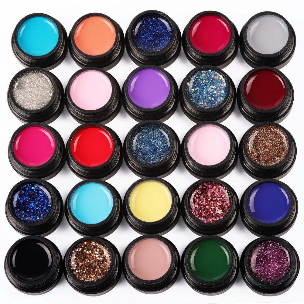 Картинка палитры гель красок для ногтей