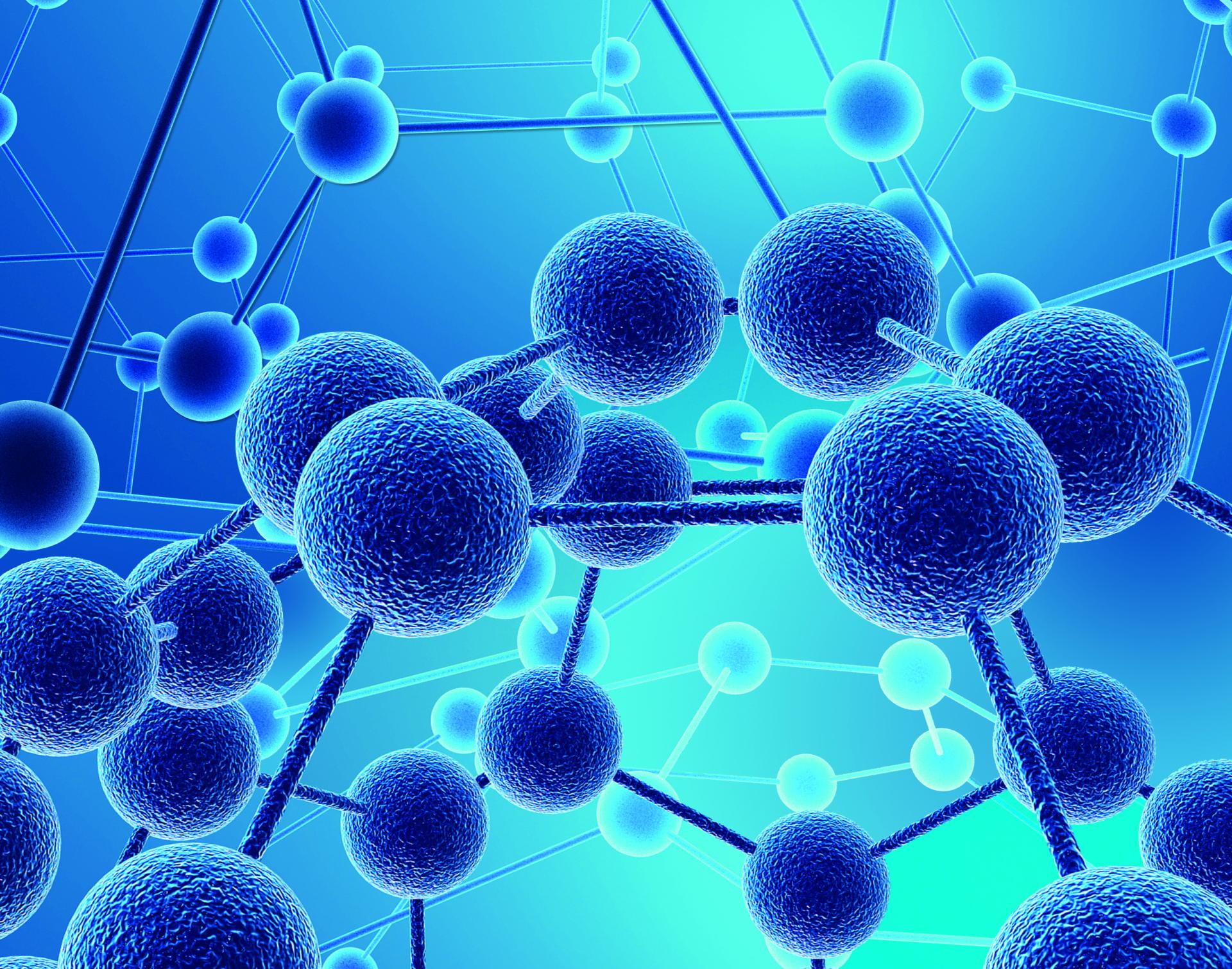 Модель химического соединения мономера и акриловой пудры