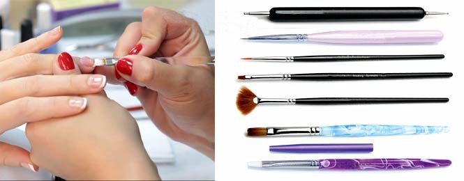 фотография необходимого инструментария для дизайна ногтевых пластин
