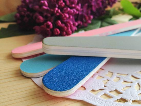 Пластиковые пилки для натуральных ногтей