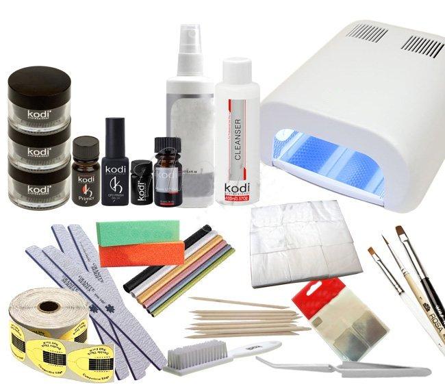 фото набора инструментов для наращивания ногтевых пластин гелем