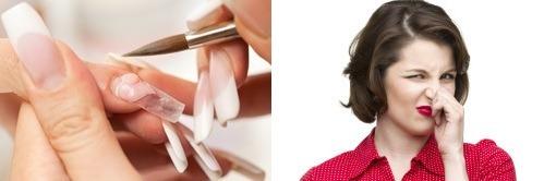 Неприятный запах при наращивании ногтей акрилом
