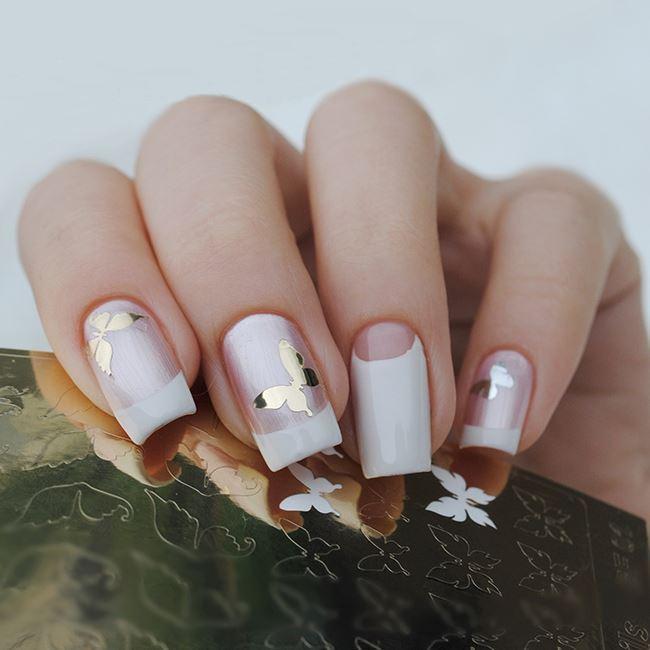 фото наклейки для ногтевых пластин с бабочками
